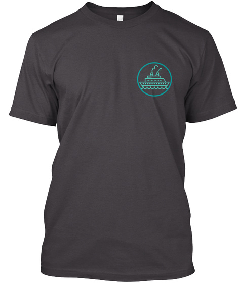 Caribbean Cruise Heathered Charcoal  T-Shirt Front