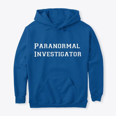 Usapa Paranormal Investigator Royal T-Shirt Front