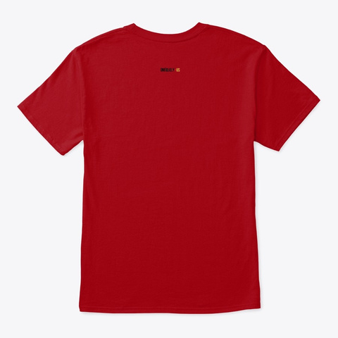 Music Obsessed Deep Red T-Shirt Back