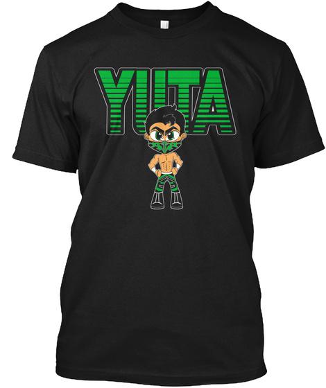 Yuta Black T-Shirt Front