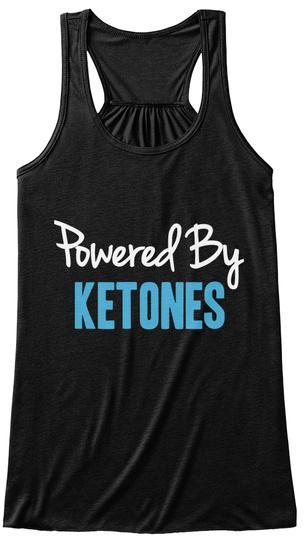 Powered By Ketones Black Women's Tank Top Front