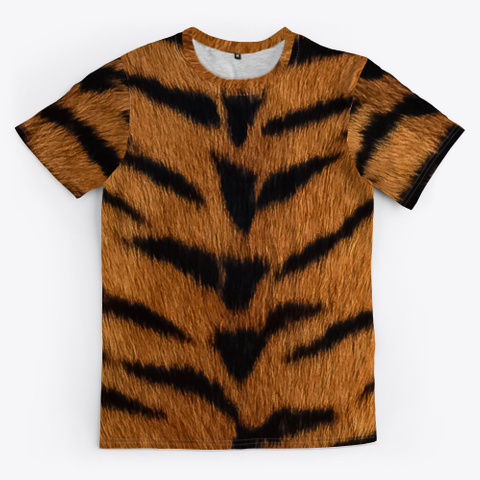 Tiger Fur Black T-Shirt Front