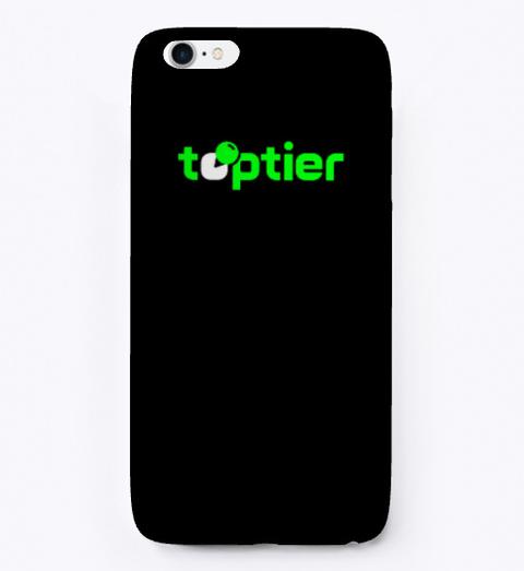 Top Tier Phone Case   Dark Mode Black áo T-Shirt Front
