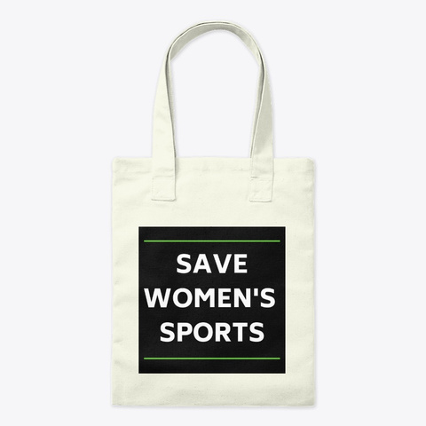 Save Women's Sports Tote Natural T-Shirt Front