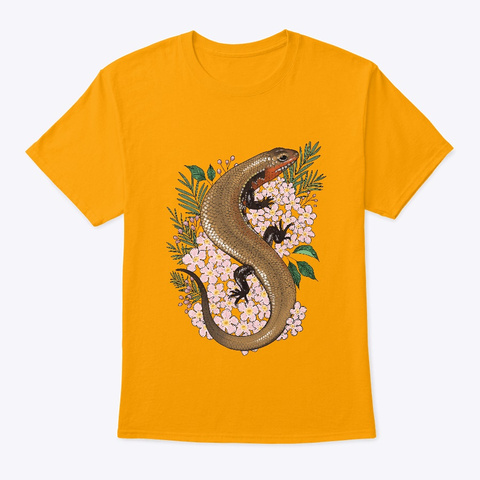 Roku And Flowers Gold T-Shirt Front