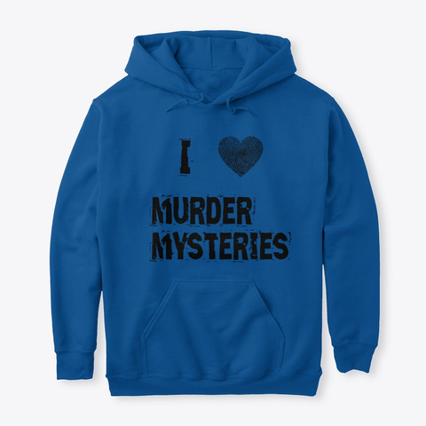 Murder Mystery Hoodie Royal T-Shirt Front