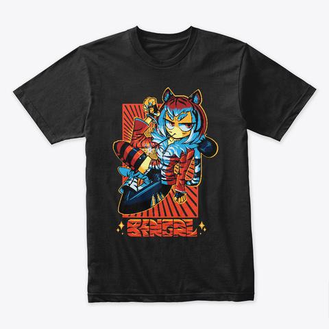 Bengal Black T-Shirt Front