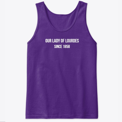Our Lady Of Lourdes T Shirt Purple T-Shirt Front