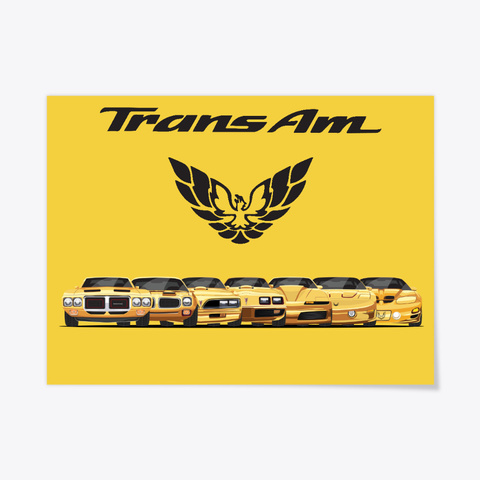 Yellow Trans Am Poster Yellow T-Shirt Front