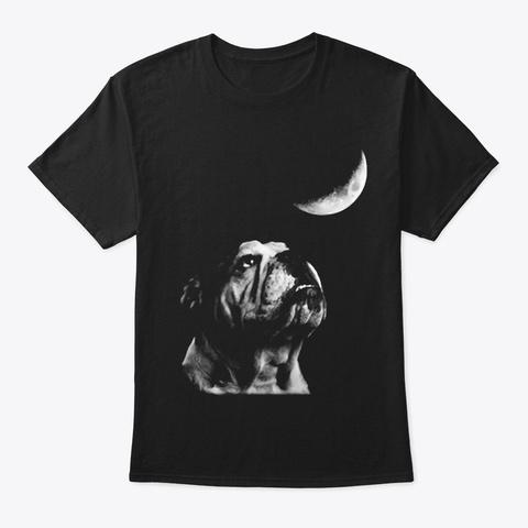 Bulldog Moon Black T-Shirt Front