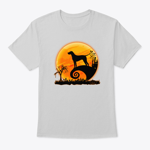German Shorthaired Pointer And Moon Hal Light Steel T-Shirt Front