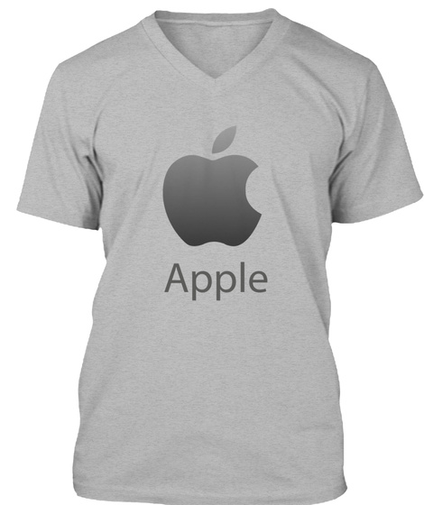 Apple I Phone    Cool Tee Shirt  Athletic Heather T-Shirt Front