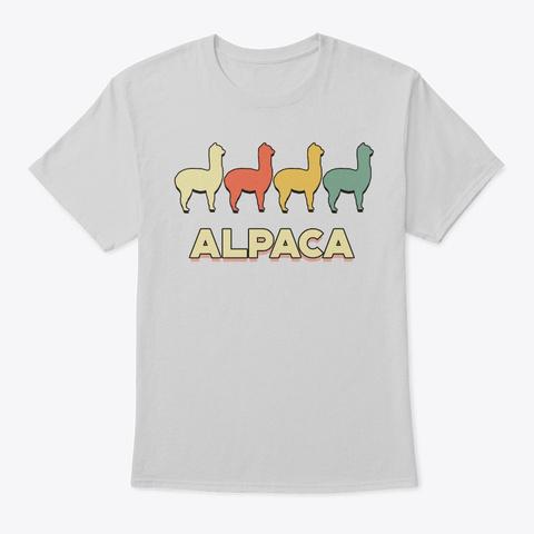 Retro Vintage Alpaca For Animal Lover Light Steel T-Shirt Front
