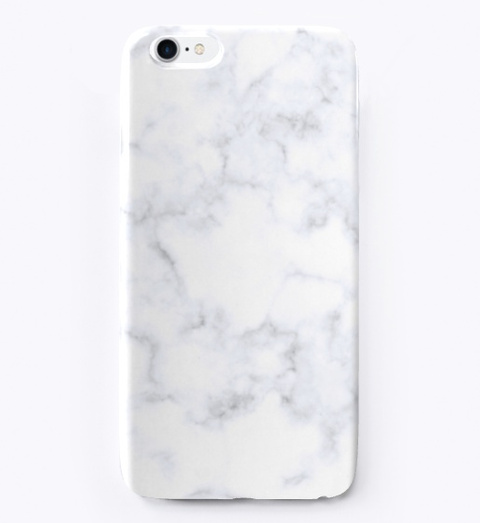 White Marble | Phone Case Standard T-Shirt Front