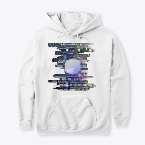 Sp404 City Skyline White T-Shirt Front