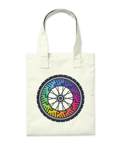 Anyone Can Bike Tote Natural Tote Bag Back