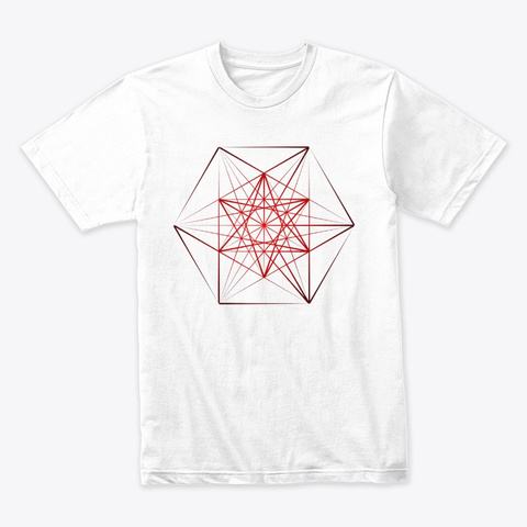 Dymaxion Series   Sharp Red White T-Shirt Front