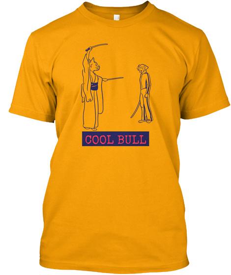 Cool Pitbull   Funny Pitbull Shirt Gold T-Shirt Front