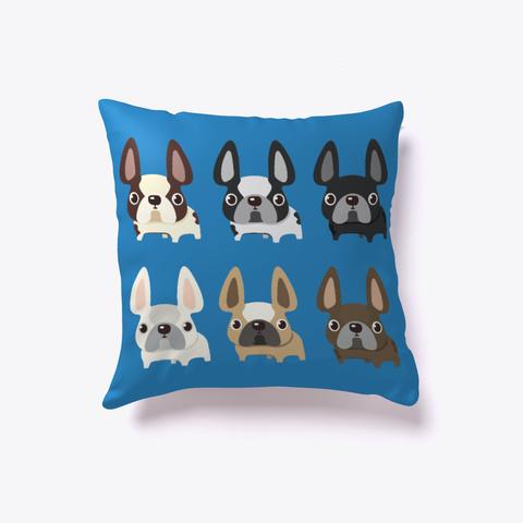 French Bulldog United Pillows Denim Blue áo T-Shirt Front