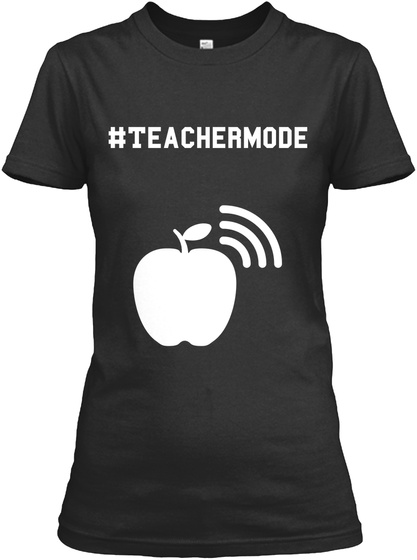 #Teachermode Black Women's T-Shirt Front