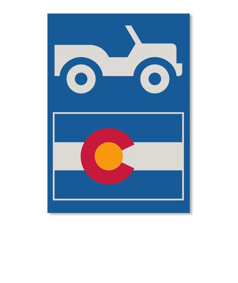 Off Road Colorado Sticker Dk Royal T-Shirt Front
