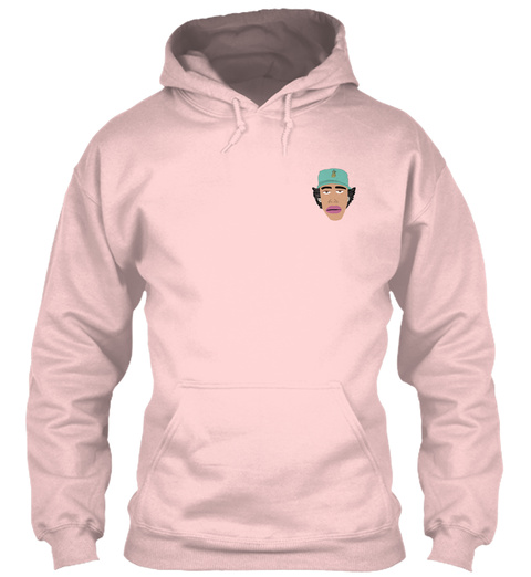 Zay Solis Face Hoodie Light Pink Sweatshirt Front