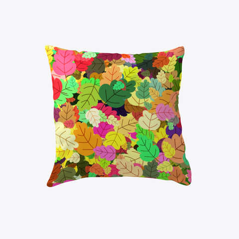 Autumn Leaves Pillow White T-Shirt Front