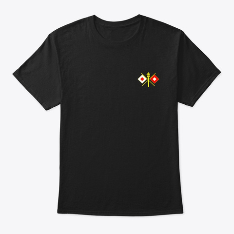 Army Signal Corps Branch Military Black T-Shirt Front