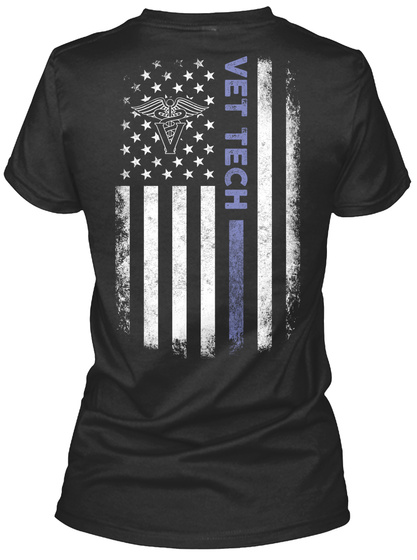 Vet Tech Black T-Shirt Back