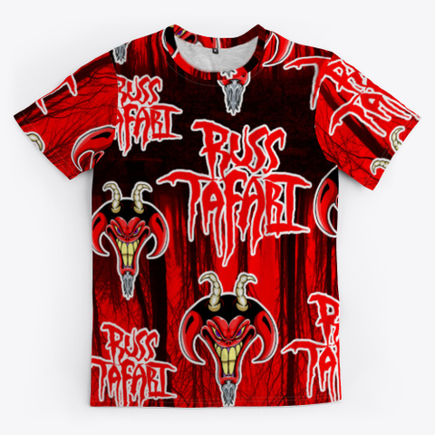 Russ Tafari All Over Print T Shirt Black T-Shirt Front