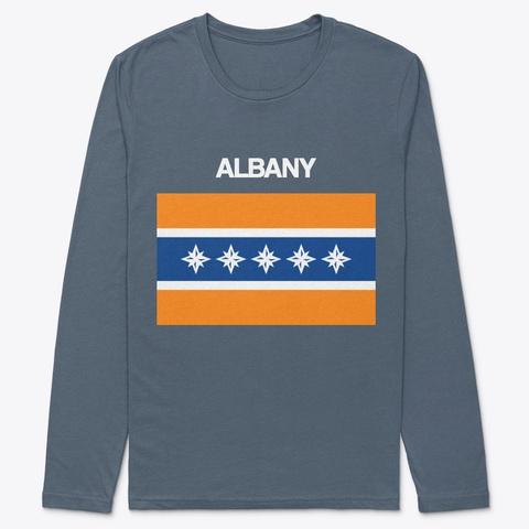 Albany Flag Merchandise Indigo T-Shirt Front