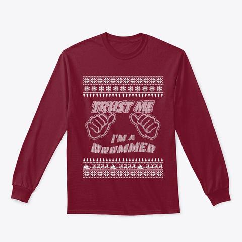 Trust Me, I'm An Drummer   Merry Xmas Cardinal Red T-Shirt Front