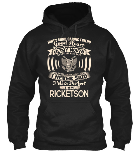 Ricketson Name Perfect Black T-Shirt Front
