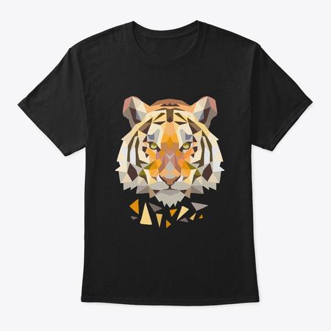 Tiger     Tiger, Animal, Wild Animal Black T-Shirt Front