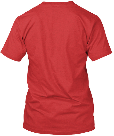 High Ground (Super Soft Fabric) Red T-Shirt Back