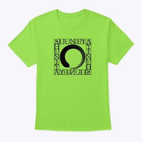 Shuniya – Point Of Stillness  Lime T-Shirt Front