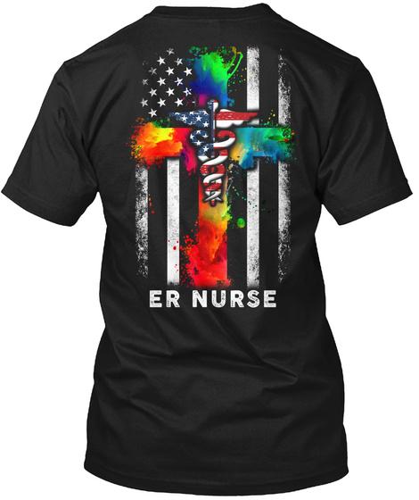 Er Nurse Black T-Shirt Back