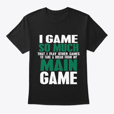 Main Game Black T-Shirt Front