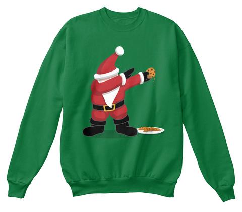 Dabbing Santa 🎅 Kelly Green  T-Shirt Front