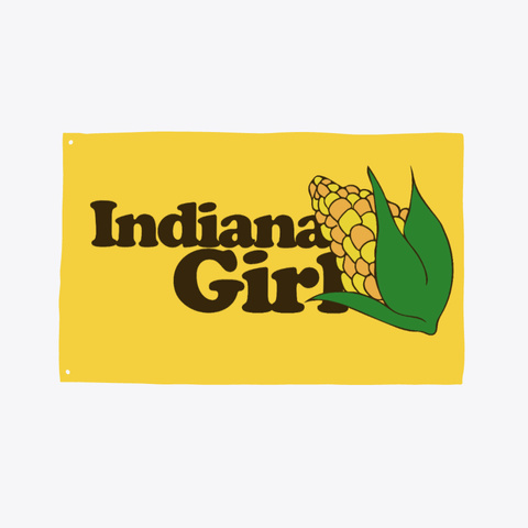 Indiana Girl Yellow T-Shirt Front