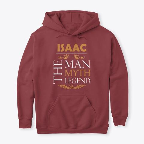 Isaac The Legend Man Maroon T-Shirt Front