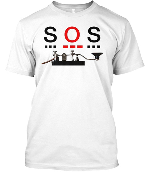 Sos White T-Shirt Front