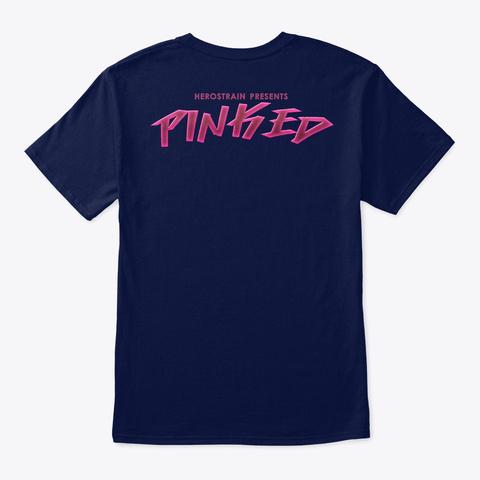 Pinked Navy T-Shirt Back