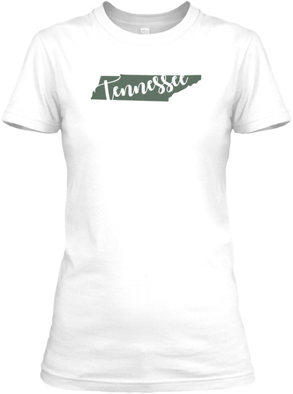 Tennessee Script Tee White Women's T-Shirt Front