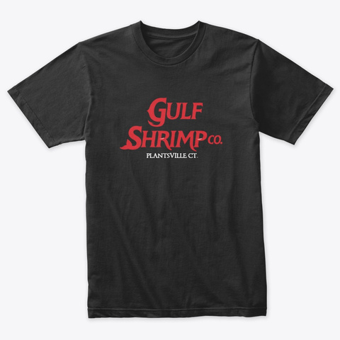 Our Shrimp Are Jumbo Vintage Black T-Shirt Front