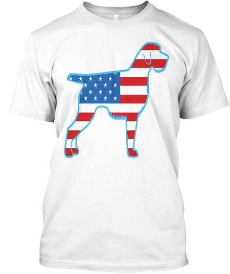 German Wirehaired Pointers White T-Shirt Front