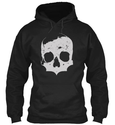 Skull T Shirts. Skeleton Horror Danger Black áo T-Shirt Front