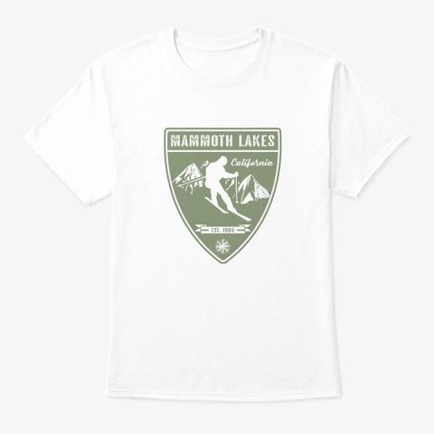 Ski Mammoth Lakes California White T-Shirt Front