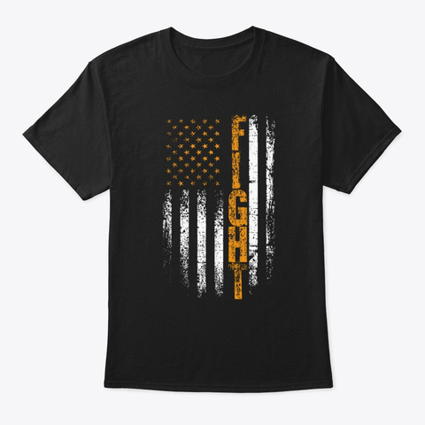 Fight Childhood Cancer Awareness Shirt Black T-Shirt Front