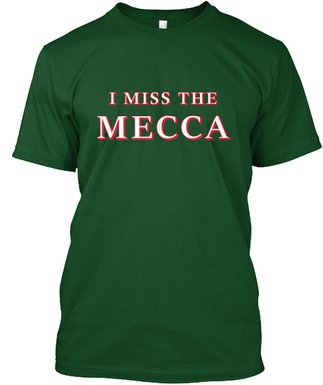 Naming Wrongs: Mecca (Green 2) Deep Forest T-Shirt Front